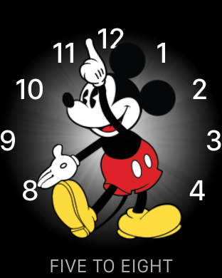 five to eight, Mickey face